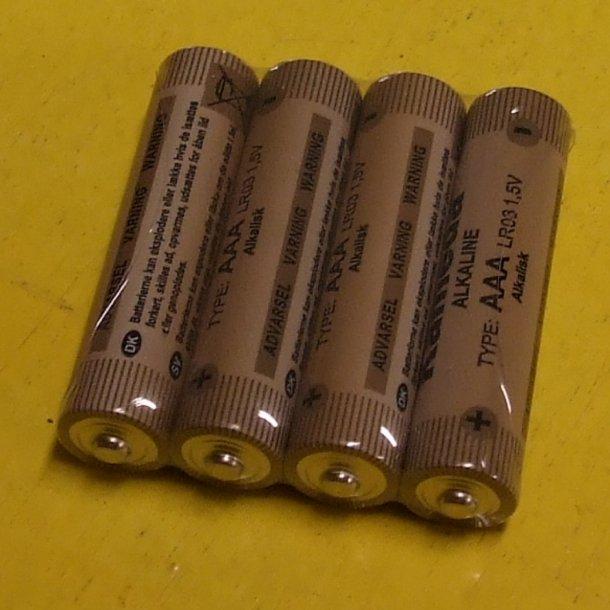 4 batterier str. AAA